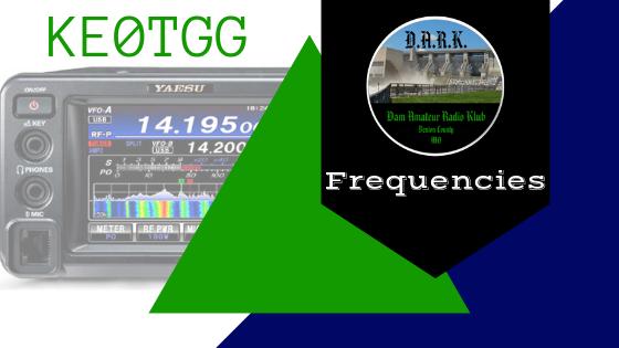 Frequencies – D A R K  Dam Amateur Radio Klub